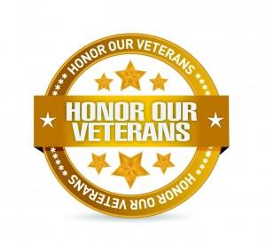 honor our veterans goal seal illustration
